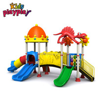 CE approved kid's outdoor slide plastic Dinosaur series tube slide