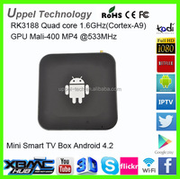 Dual Core 8G Android 4.2 Android Internet Mini PC Smart TV Converter Box