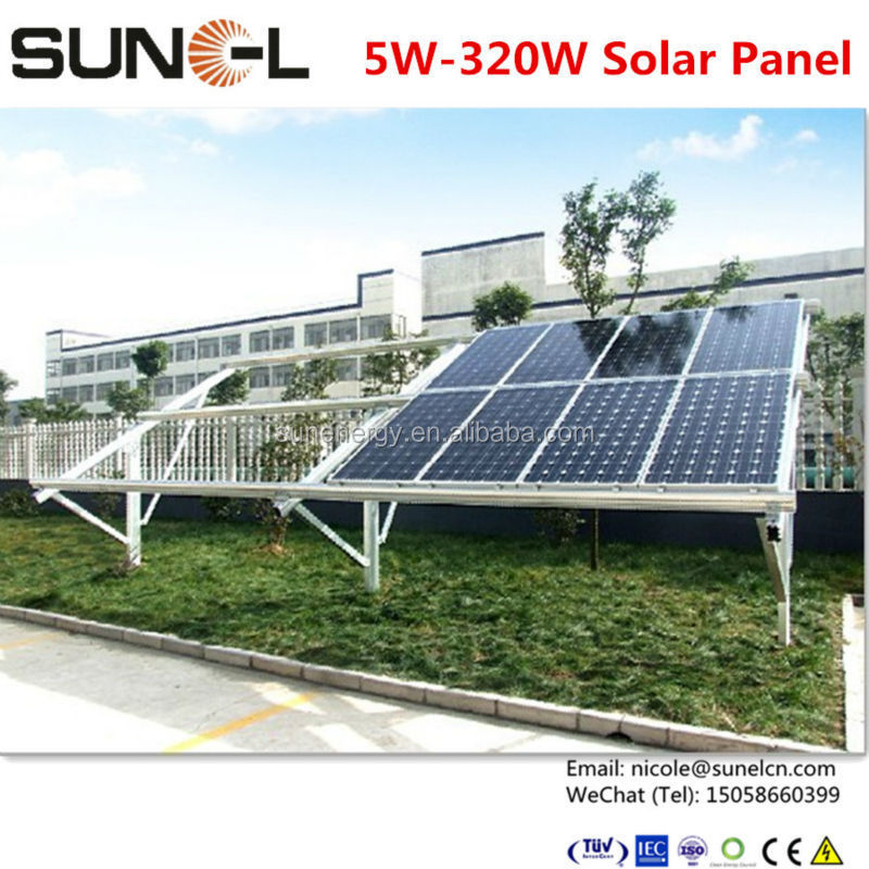 solar fotovoltaica 150 watt with solar cell poly 6x6