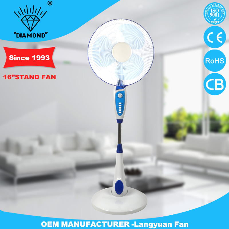 Hot selling 16inch indoor stand fan components with round base