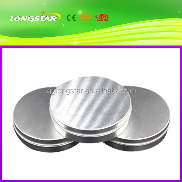 New style top sell flat 125ml aluminum jars with slip lid 125g aluminum tin containers