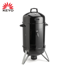 Outdoor Camping Heavy Duty Charcoal Grill Oven Barbecue Vertical Barrel Bbq Smoker