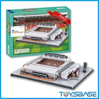 Anfield Mode165 PCS crystal jigsaw games paper 3d puzzle stadium