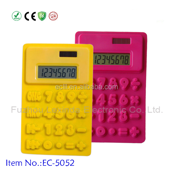 Cheap 8 digit solar silicone calculator