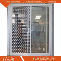 Aluminum extrusion fireproofing sliding door with fiberglass flynet for caravan