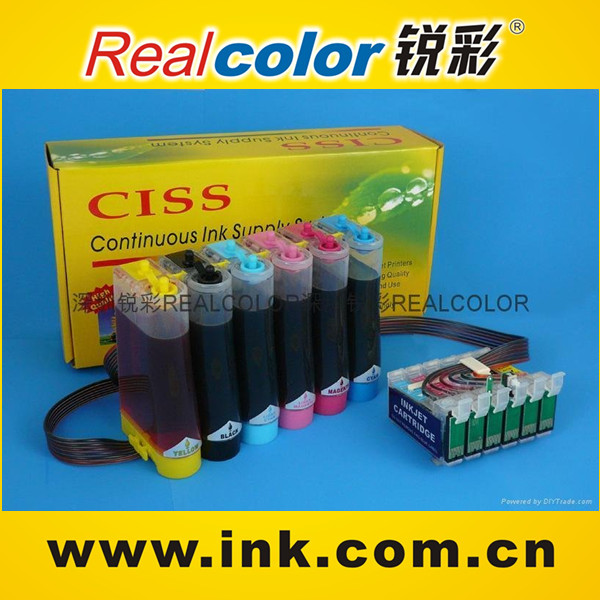 Realcolor wholesale T0791-T0796 high quality CISS for epson R1400/Photo 1400 with ARC chip