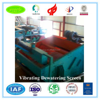 2016 new technology single deck vibrating screen from china machine manufacturer with low price for slurry dyhydration dewaterin