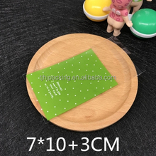 four kinds of color multiple choice self adhesive seal cookie plastic packing bags