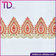 100% Polyester Boarder Lace Decoration For Garments/Bags