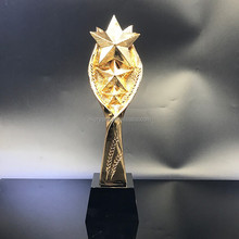 Hot fashion golden resin trophy five star memento