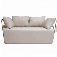 Modern home living room <strong>furniture</strong> metal frame sofa set with throw pillows
