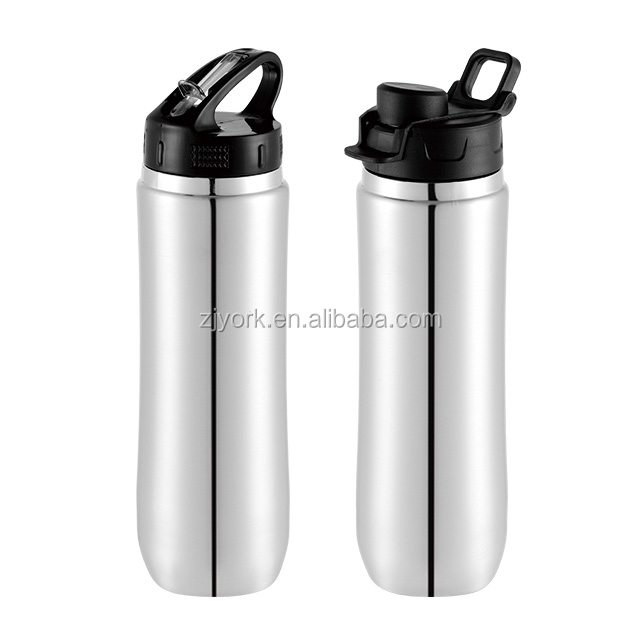 Unique design 750ml single wall stainless steel 18/8 material cold drinking water bottle