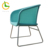 Blue color comfy rattan bistro garden chairs
