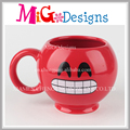 Exquisite Ceramic Mug with Smile Pattern OEM Welcome