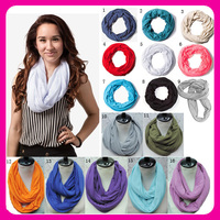 Multi Color China wholesale Unisex 100 Cotton Cheap Circle Loop Soft Light Weight Solid Scarf