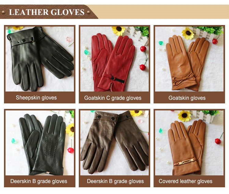 leather palm wool glove