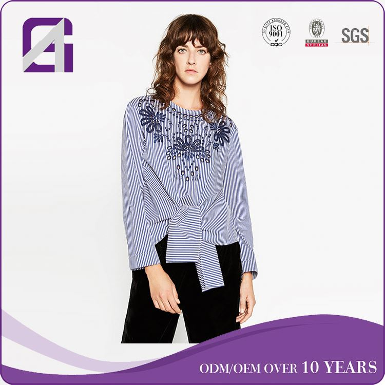 New Arrival long sleeve blouse blouse neck designs for tailors for women