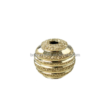 wholesale jewelry component suppliers flash sand 14k gold filled brass copper alloy india brass beads for necklace making