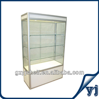 Beautiful Hot Selling Titanium Alloy and Glass Boutique display Cabinet/Full Vision Tempered Glass MDF Showcase