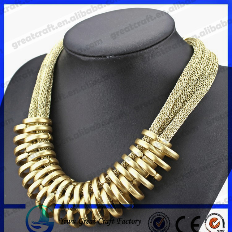 yiwu Supplier 2014 Fashion Necklace Jewelry Gold Necklace