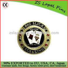 metal poker chip/ gold poker chips/ poker card guards