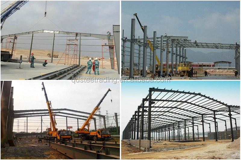 low price galvanized steel structure prefabricated warehouse with frame use life 50 years