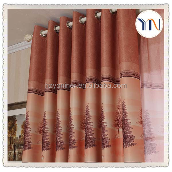 wholesale 100% polyester dark drapery fabric cheap used hotel drapes