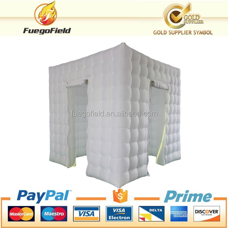 2017 ORDER NOW ! Promotional New LED Inflatable Square Photo Booth For sale