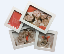 Portable vertical frame gallery collage small plastic photo craft frame with multi photo frame