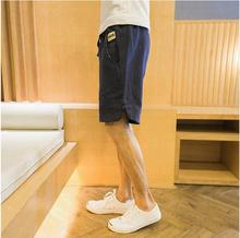 2017 Hot Fashion Men Short Pants Summer Linen Men Shorts
