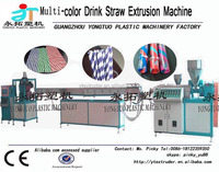 PP sprial drinking straw making machine/helical line straw extrusion machine