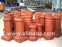 Chimney pot - Clay chimney base - Chiminea pots - Fireplace for construction & building engineering.