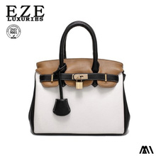 NewDesign Women Contrast Color PU Tote Bag Fashion Designer Lady Hand Bag With Sequined online shopping