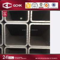 China steel pipe factory weight chart A500 2 inch metal box steel square tubing ms rectangular pipe