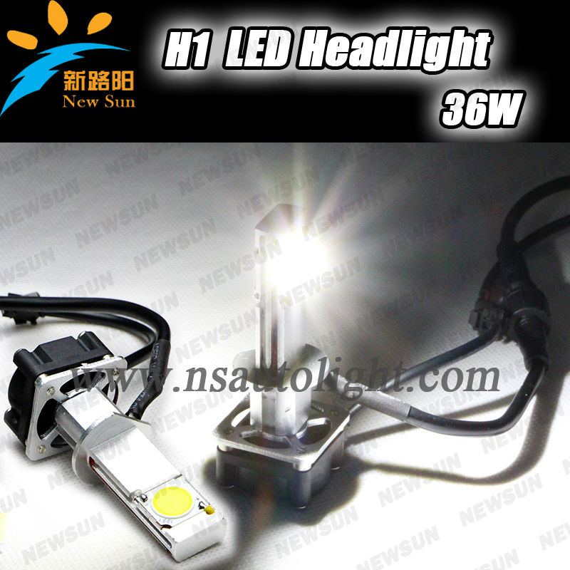 Sample order accept! Super bright power saving auto led head light led headlight 3200LM 36W h1 auto car led headlight