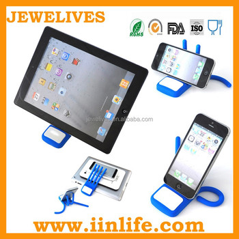 Multifunction adjustable silicone phone holder,phone holder for tablet&phone