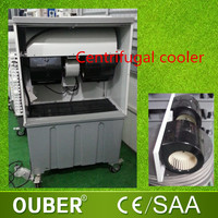 Evaporative centrifugal portable air cooler low power consumption thermoelectric air cooler