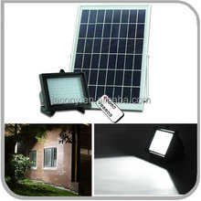 Ultra-bright 126LED solar flood light with battery remote control timer (JL-4517)