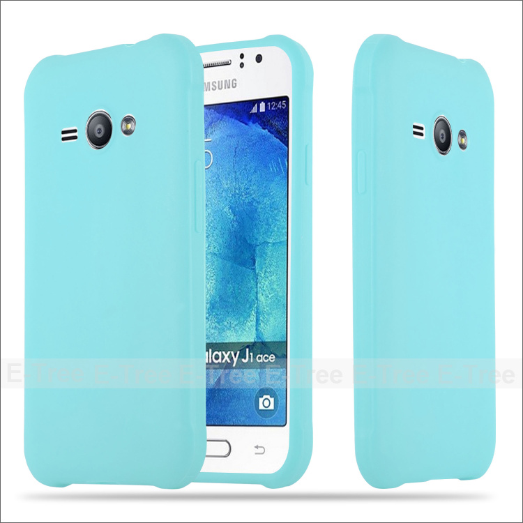 HOT Gel skin shockproof silicone rubber soft TPU case for Samsung J1 ace