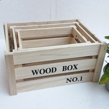 Hot Sell cheap wood fruit crates for sale ,cheap wood shipping crates forsale