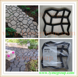 Laying and hardening of the road in a small place asphalt edge Cobblestone personality type brick mold