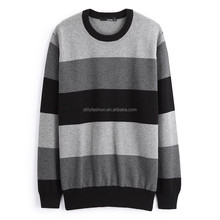 2017 men 100% cashmere knitted wide striped jumper men's cashmere sweater
