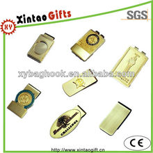 Engraved gold money clip for ladies