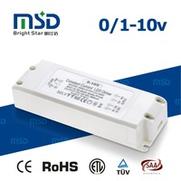 plastic cover 0-10v pwm resistor control dimming 350ma 500ma 20w waterproof led driver