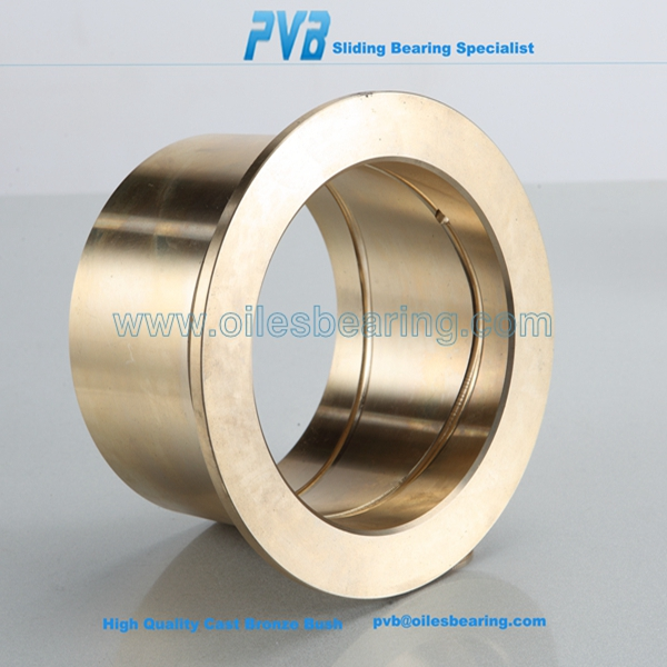 CuAl10Ni5Fe5 cast bronze bearing,flange brass bearing,self-lubricating oil grooves type single loop bush bearing