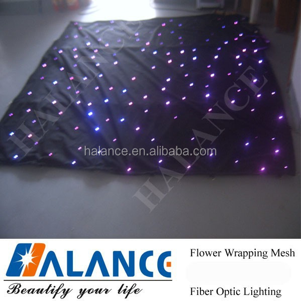 LED Optical Fiber Star Clothing for Stage Decorations
