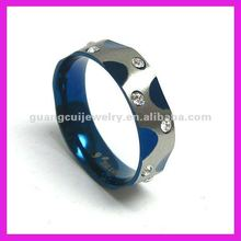 fashion blue crystal shamballa rings