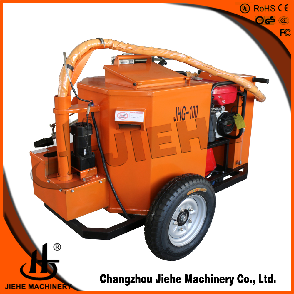 hot sell 22 uk gallon kettles crack filler,asphalt crack filling machine,smooth pump out(JHG-100)