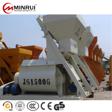 Good price of js1500 twin shaft mixer/concrete mixer/cement stucco mixer with CE certificate