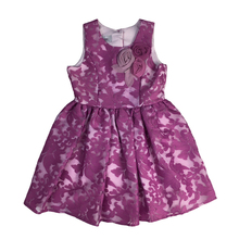 Party wear baby girls rosy pink floral dress